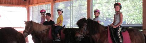 Tolle Fotos vom Ballzirkus beim Ponyreiten im Ebnit