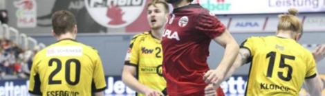Handball-Kids vom HC Lustenau trainieren mit den Profis vom Meister HC Hard