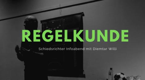 Schiedsrichter Infoabend und Regelkunde von Dietmar Willi