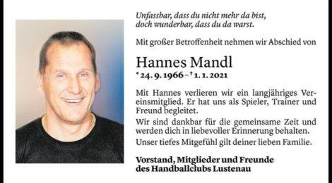 Der HCL trauert um Hannes Mandl
